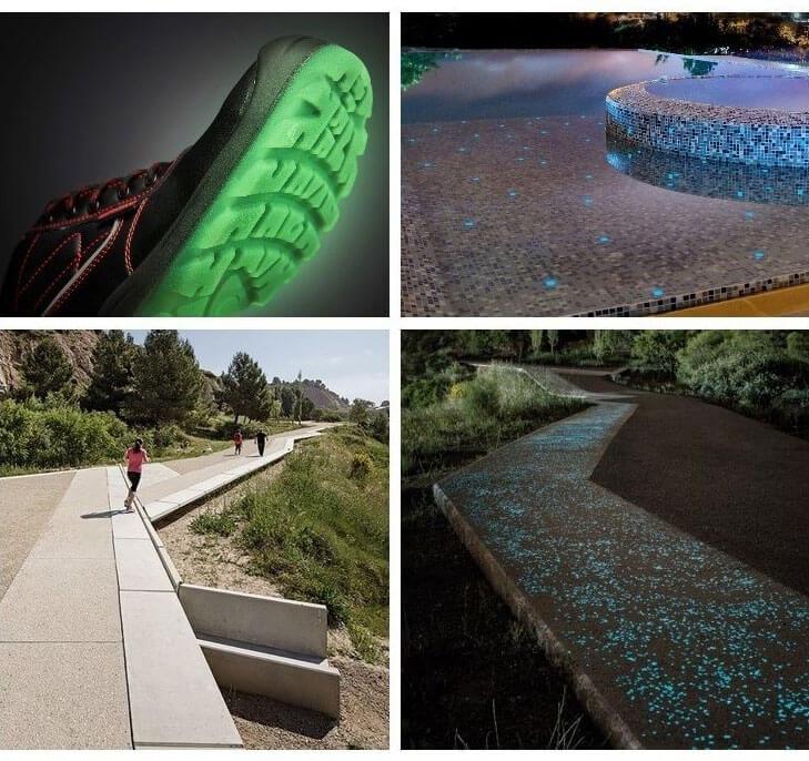 Ideas innovadoras que utilizan productos fotoluminiscentes