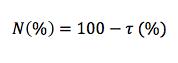 Ecuación de opacidad (N)