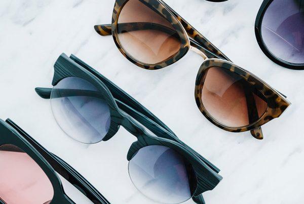 Filtro solar de las gafas de sol