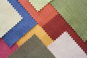 Muestras de telas de colores